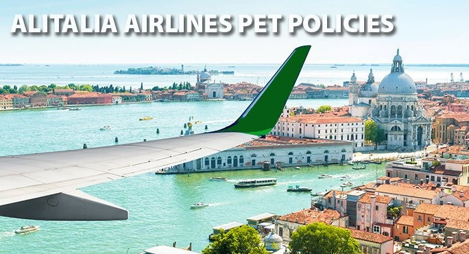 Alitalia flying over Venice