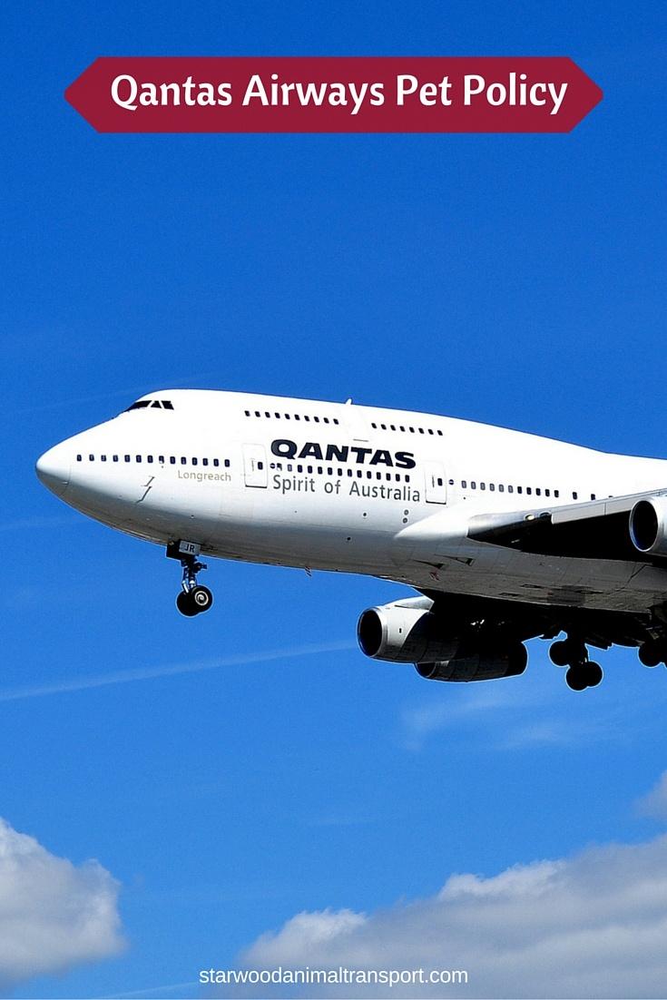 Qantas Airways Pet Policy